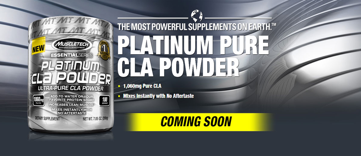 MuscleTech Platinum Pure CLA Powder Reviews- Convenient CLA