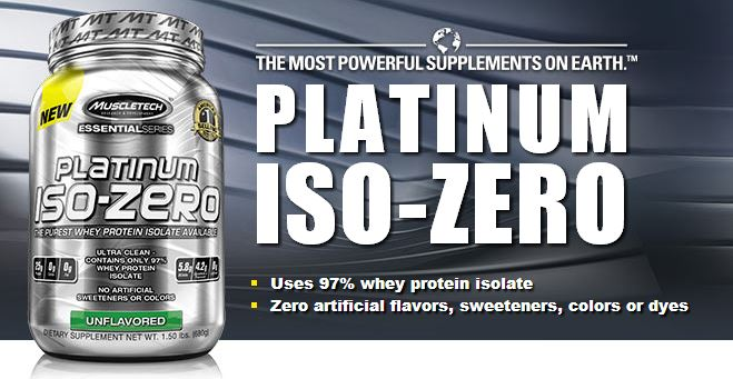 MuscleTech Platinum 100 ISO Zero Isolate Protein Powder India